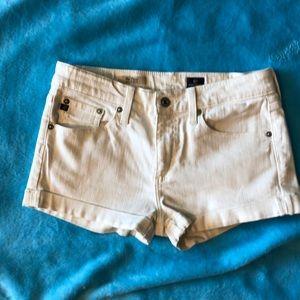AG white jean shorts